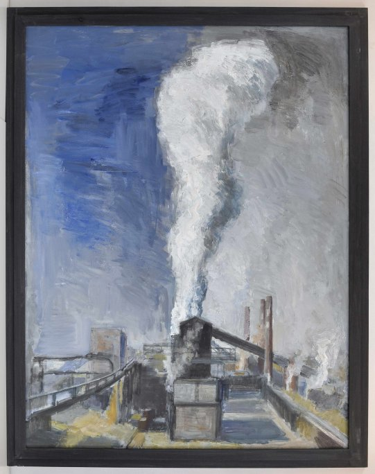 Plotnikov Egor. By-product coke plant. Noon. 2008, oil on canvas, 170x130 (private collection, Moscow)